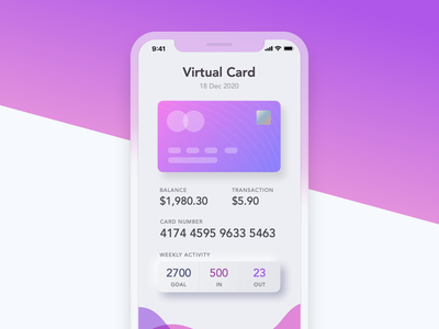 iPhone Credit Card UI uitrends iphone x apple iphone mockups bright colors design iphone uiux ios clean apple mobiledesign app mockup mobile ux ui