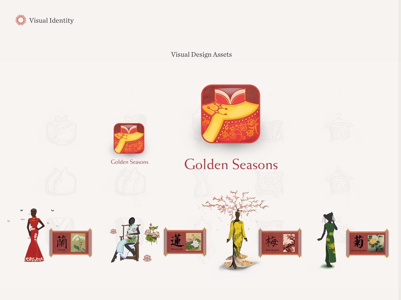 Golden Season VR Gallery Branding Version One visual design graphic design vr ux logo graphic icon branding design