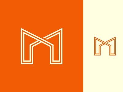 M + Home Logo Design minimalist logo minimalist logo design logo