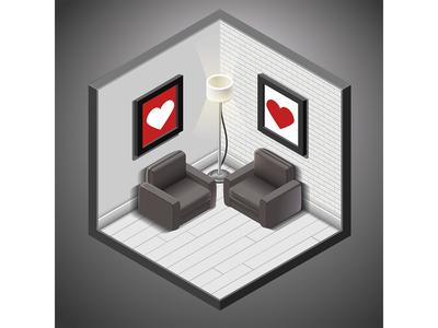 Lovely isometry livingroom