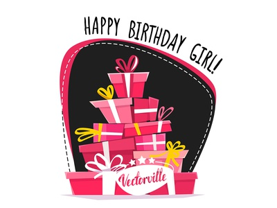Happy Birthday Girl card