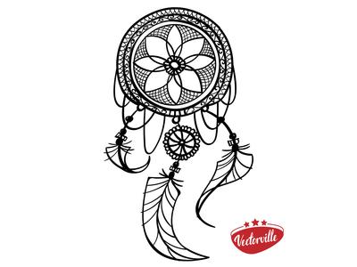 dreamcatcher tatoo boho ethnic sketch