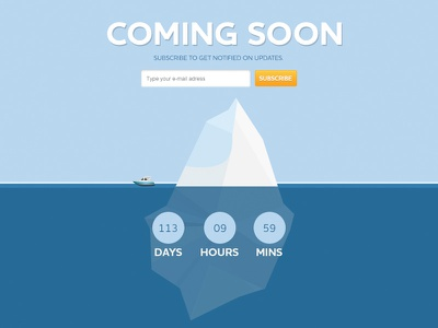Coming Soon (Free PSD) freebie free psd coming soon page counter subscribe
