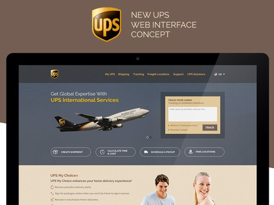 UPS Web Concept interface cargo ux ui ups