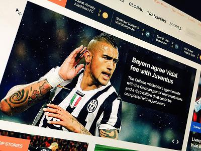 Football Portal UI Design score design web portal football ux ui