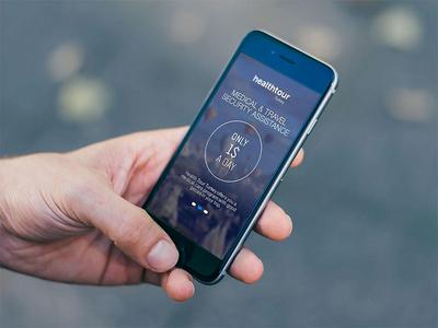 App Splash Page walktrough health application iphone