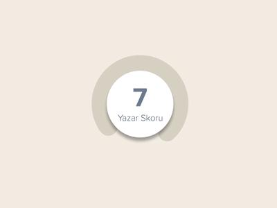 Skor number pie rating visual widget score