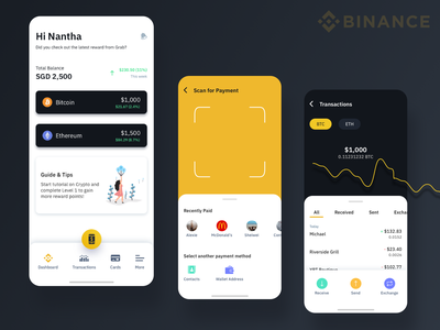 Binance - Wallet crypto exchange crypto wallet cryptocurrency crypto investment fintech singapore