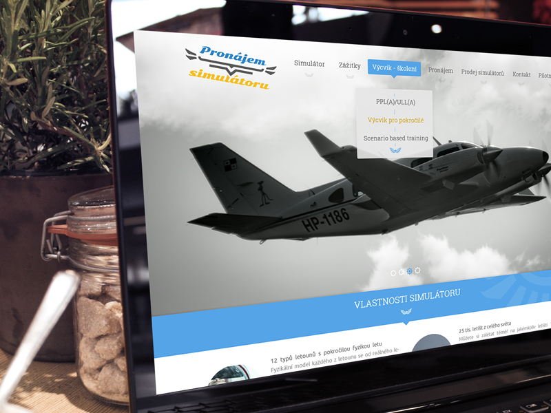 Fly simulator rent web by Petr Simcik on Dribbble