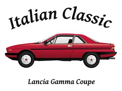 Lancia Gamma Coupe lancia red car