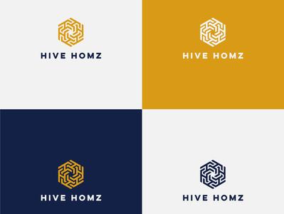 HIVE LOGO ux app icon minimal vector typography branding logo illustration design