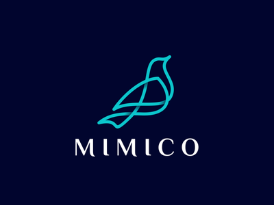 BIRD ui ux app icon minimal vector typography branding logo illustration design