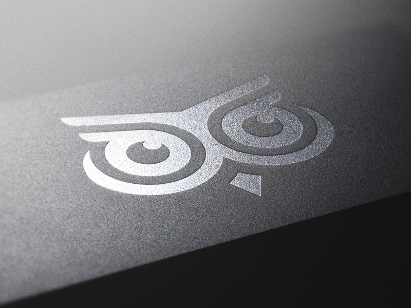 OWL LOGO ui ux app icon minimal vector typography branding logo illustration design