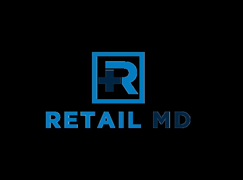 R MEDICAL LOGO ux app icon minimal vector typography branding logo illustration design