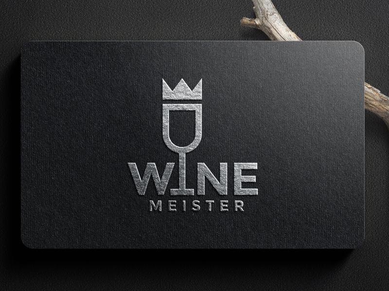 WINE LOGO ux app icon minimal vector typography branding logo illustration design
