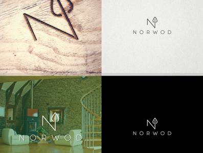 NORWOD LEAF LOGO typography minimal logo branding design