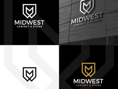 MINDWEST M LOGO typography minimal branding logo design