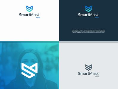 SMART MASK S LOGO typography minimal illustration branding logo design