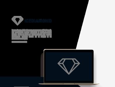 ICE DIAMOND LOGO typography minimal illustration branding logo design