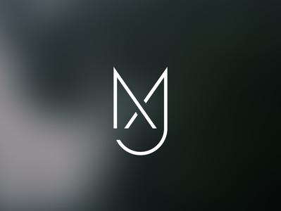 MJ LOGO icon typography minimal illustration branding logo design