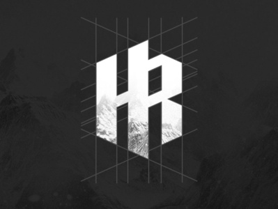 HR LOGO ui icon typography minimal illustration branding logo design