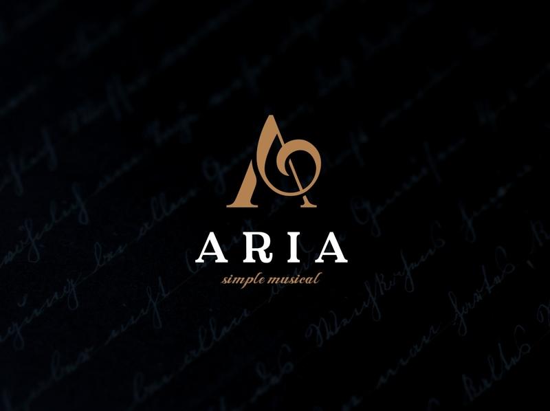 ARIA LOGO icon typography minimal illustration branding logo design