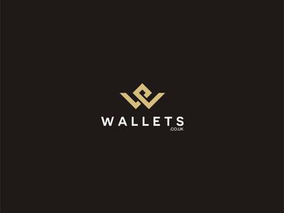 WALLETS typography minimal illustration branding logo design