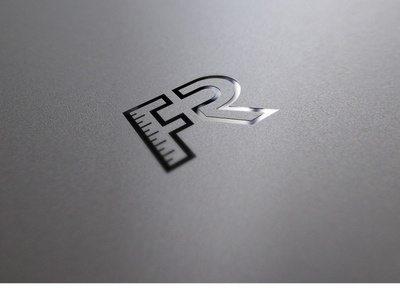 FR LOGO ui icon typography minimal illustration branding logo design