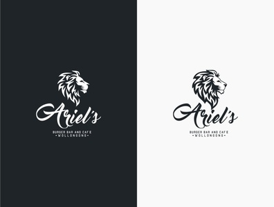 LION icon typography minimal illustration branding logo design