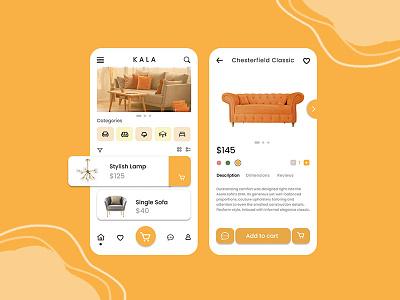Interior Shop Mobile Apps ui ux app design mobile app design ux design ui designs ui design