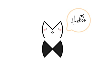MX Cat Gentleman friendly simple funny creative positive illustration lovely letters letter character cute design logo cat
