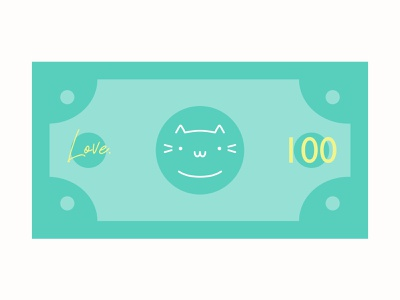 Cat Dollar cat t shirt store kawaii cat lovers unite good vibes sweet lovely dollar bill cute art money illustration design creative green inspiration positive funny cat dollar