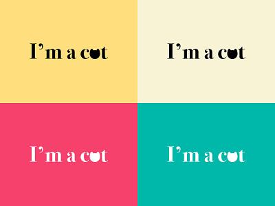 I am a cat T-Shirt cat lovers cat mom typography t shirt good vibes colorful creative original positive design cat logo art type cute