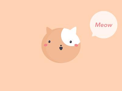 Cat Meows joyful clean happy positive kawaii avenir next design illustration pastel lovely art chat bubble meow cute cat character simple