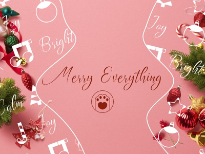 Merry Christmas! merry xmas candy cane christmas balls christmas tree music notes christmas flyer celebration happy vibes positive vibes positive happy cheerful joyful bright merry everything christmas card pink lovely christmas icons flat lay