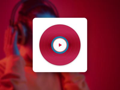 Vinyl Record App Logo