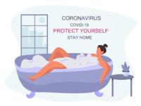 Girl Stay Home Quarantine