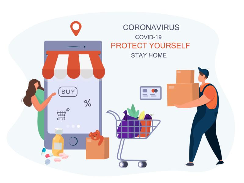 Online Shopping Coronavirus Epidemic