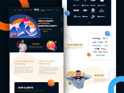 Influencer Marketing Web design product design uxdesign marketing agency brands landing page influencer landing page influecermarketing websitedesign landingpage uiuxdesign