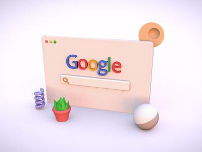 Google 3d Browser 3d concept 3d library 3d elements 3dmodel 3d branding app design websitedesign landingpage uiuxdesign