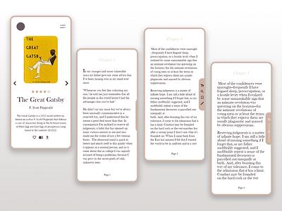 E-reader app UI design user inteface userinterface mobile uiux mobile ui mobileapp mobile ereader uiux uidesign ux design ui