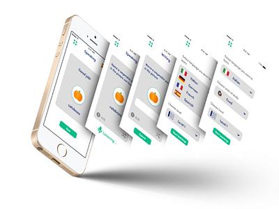 Language Learning App UI design design challenge graphic design graphic design mobileui mobile app userinterface uidesign uiux ui