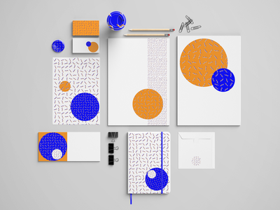 Wavy Lines Abstract Pattern Stationery Set memphis design memphis style stationery design stationery mockup stationery vector illustrator graphic design graphics design abstraction abstract design abstract