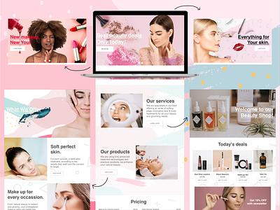 Beauty salon web design beauty salon commerce web mockup web ui design website design website webdesign