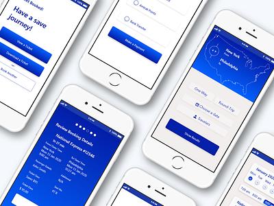 Amtrak Redesign Mobile App design graphic design mobile app design mobile app mobile ui uxui ux ui creative design ui design