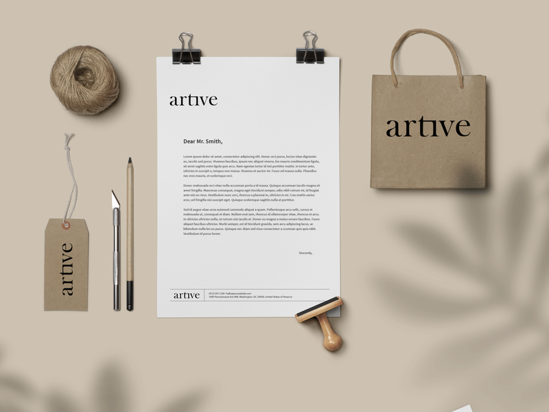 Artive Stationery Set I Mockup Design