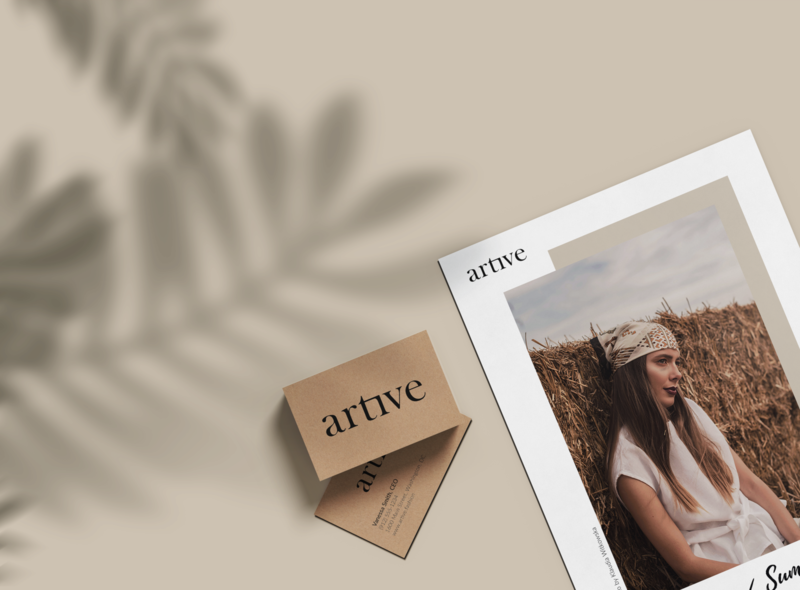 Artive Stationery Set II Mockup Design