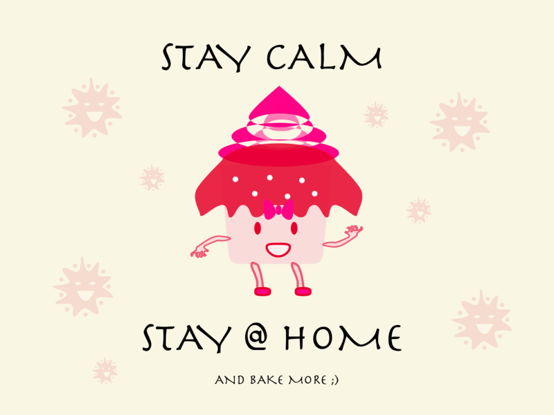 STAY AT HOME POSTER ! AND BAKE MORE