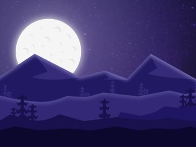 Night Sky Forest - illustration