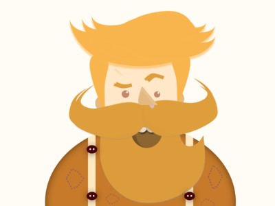 Bearded Dude - illustration